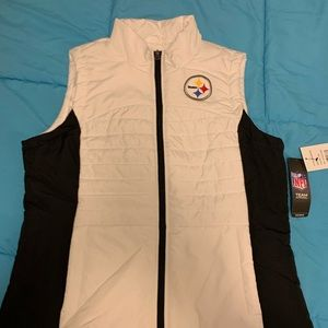 NWT STEELERS NFL WHITE VEST